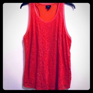 Mossimo Supply Co. | Coral Lace Dressy Tank | XL